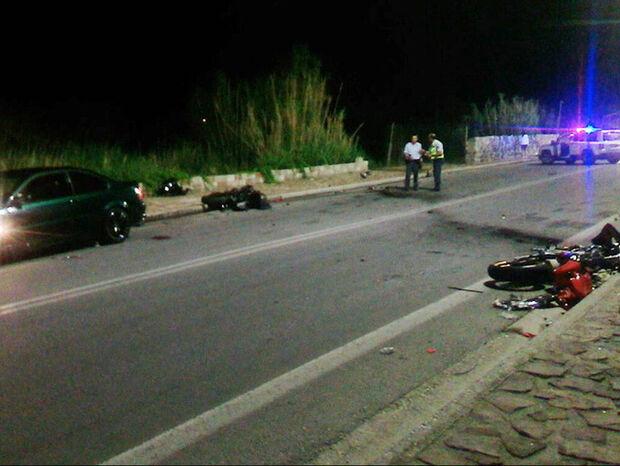 Ασύλληπτη τραγωδία στην άσφαλτο - Τρεις νεκροί σε τροχαίο στη Μυτιλήνη (vid)