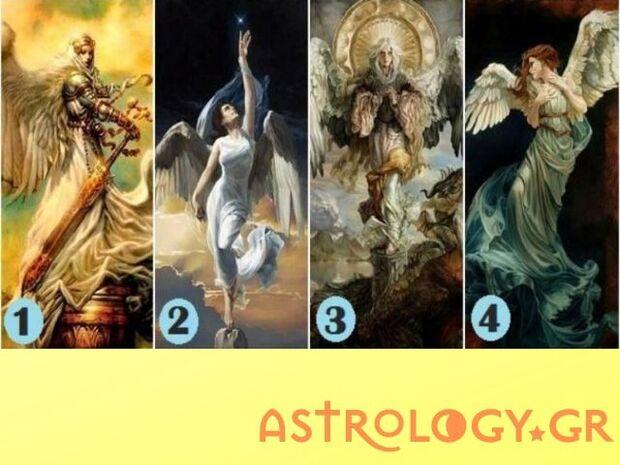 Διάλεξε 1 από τους 4 αγγέλους και μάθε το μήνυμα που σου στέλνουν!