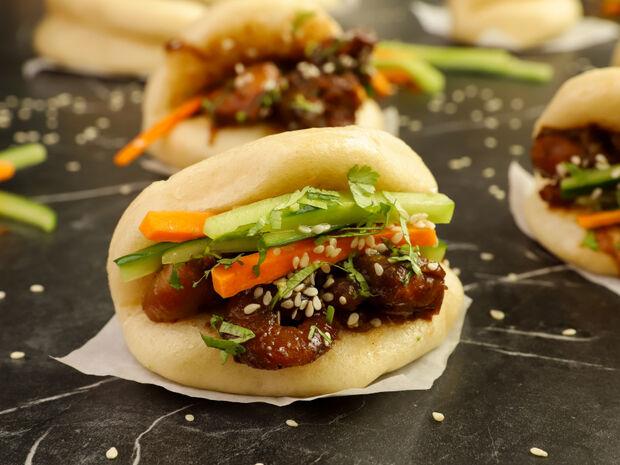 Ψωμάκια στον ατμό(bao buns)