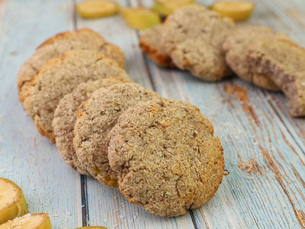 Cookies με μπανάνα και καρύδα