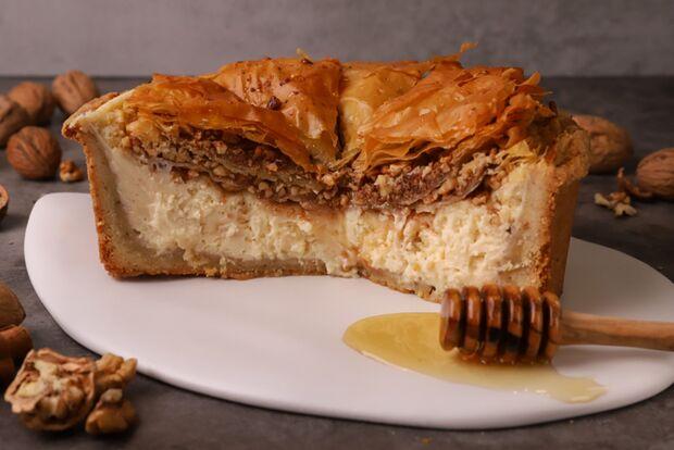 Cheesecake με μπακλαβά
