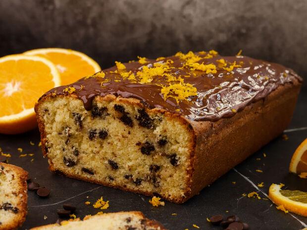 Κέικ πορτοκαλιού με δάκρυα σοκολάτας