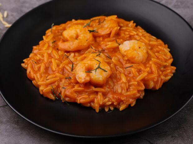 Συνταγή για κριθαρότο με γαρίδες από τον Γιώργο Τσούλη