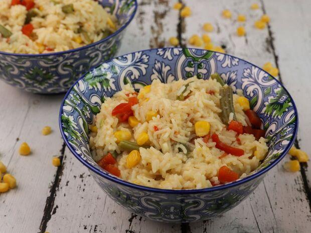 Συνταγή για ρύζι με λαχανικά από τον Γιώργο Τσούλη