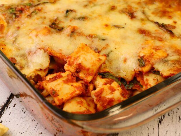 Ραβιόλι με σπανάκι στο φούρνο από τον Γιώργο Τσούλη