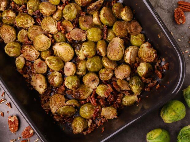 Συνταγή για ψητά λαχανάκια Βρυξελλών από τον Γιώργο Τσούλη