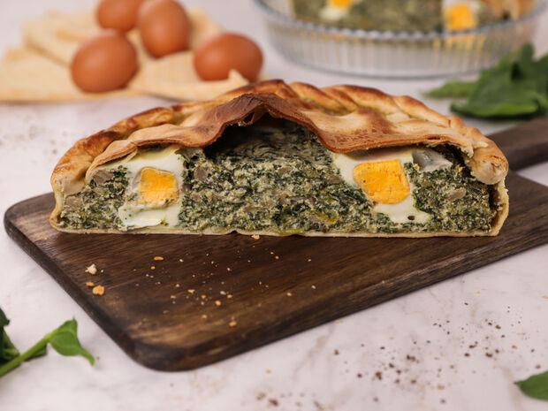 Τάρτα με σπανάκι, τυριά και αυγό (Pasquolina) από τον Γιώργο Τσούλη