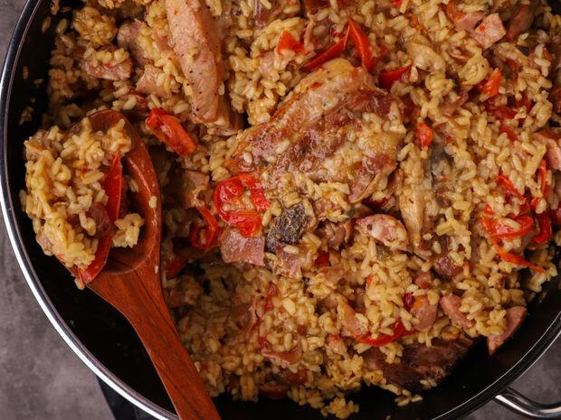Ψητό ρύζι με χοιρινή πανσέτα από τον Γιώργο Τσούλη