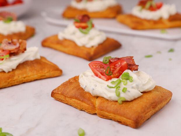 Ταρτάκια με μπέικον και ντοματίνια από τον Γιώργο Τσούλη