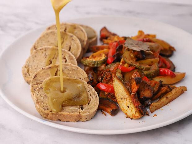 Ψωμί seitan με σάλτσα gravy του Γιώργου Τσούλη