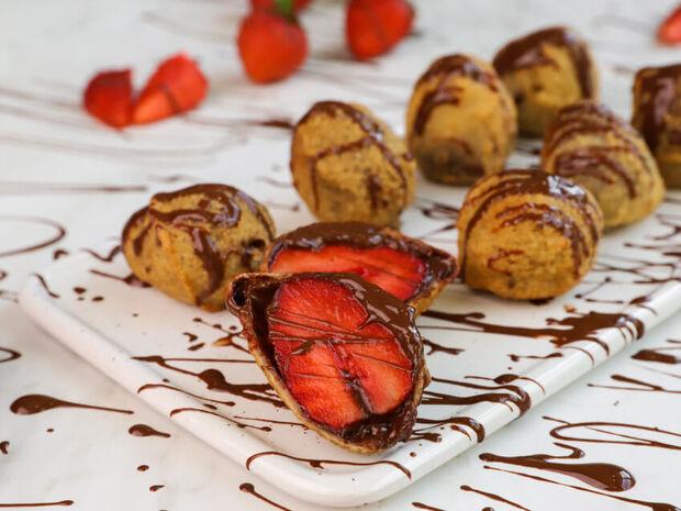 Τηγανητές φράουλες με σοκολάτα από τον Γιώργο Τσούλη