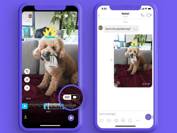 Το Viber παρουσιάζει μια νέα λειτουργία που σού επιτρέπει να δημιουργήσεις τα δικά σου, μοναδικά GIF