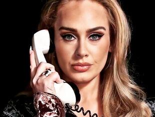 Ενός λεπτού σιγή γι ατη super sexy chic εμφάνιση της Adele