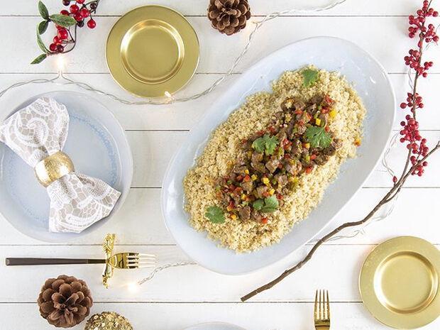 Συνταγή για μοσχαράκι με κινόα από τον Άκη Πετρετζίκη