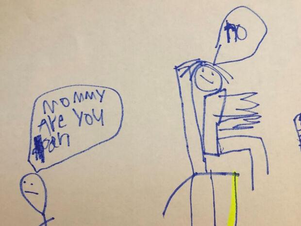 «Μαμά τελείωσες;» - Το σκίτσο του 6χρονου που έγινε viral
