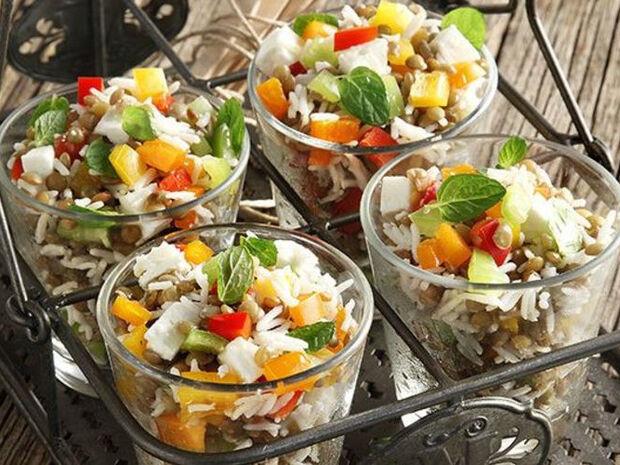 Συνταγή για Σαλάτα με φακές φούρνου από τον Άκη Πετρετζίκη