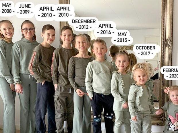 Μαμά δέκα παιδιών φωτογραφίζει τη μοναδικότητα της οικογένειάς της