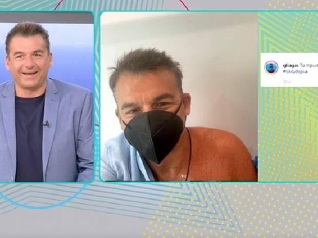 Γιώργος Λιάγκας: Το απίστευτο περιστατικό που του συνέβη, όταν πήγε να κάνει το εμβόλιο