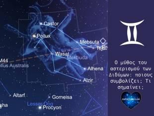Ο μύθος του αστερισμού των Διδύμων!