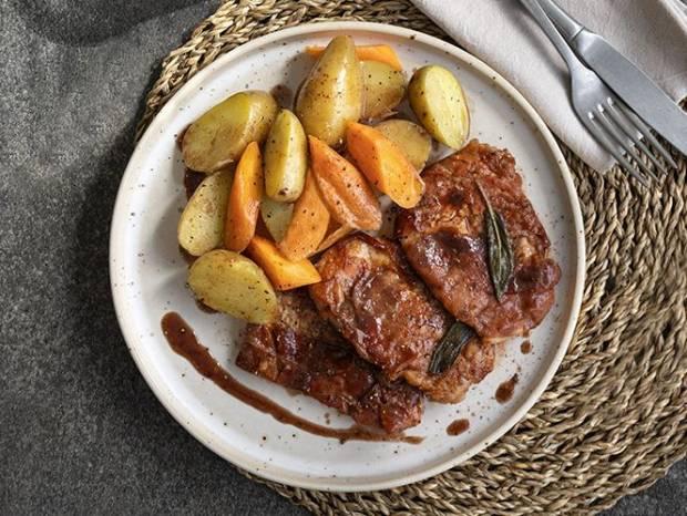 Συνταγή για ψαρονέφρι με προσούτο (Saltimbocca alla Romana) από τον Άκη Πετρετζίκη
