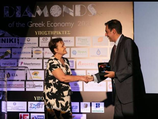 "H ΒΙΑΝΕΞ διακρίθηκε στο θεσμό ""Diamonds of the Greek Economy 2021"""