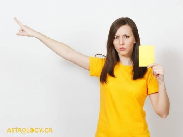 Τα 4 ζώδια που με ευκολία θα σου δείξουν την... κίτρινη κάρτα!